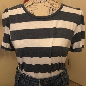 Lucky Brand Stripes & Sleeves T-Shirt